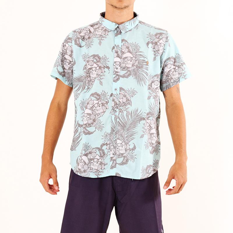 Camisa Hawaiian Skull